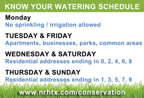 Water Conservation Schedule
