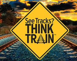 See Tracks? Think Train Sign