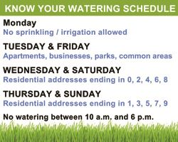 Know Your Watering Schedule