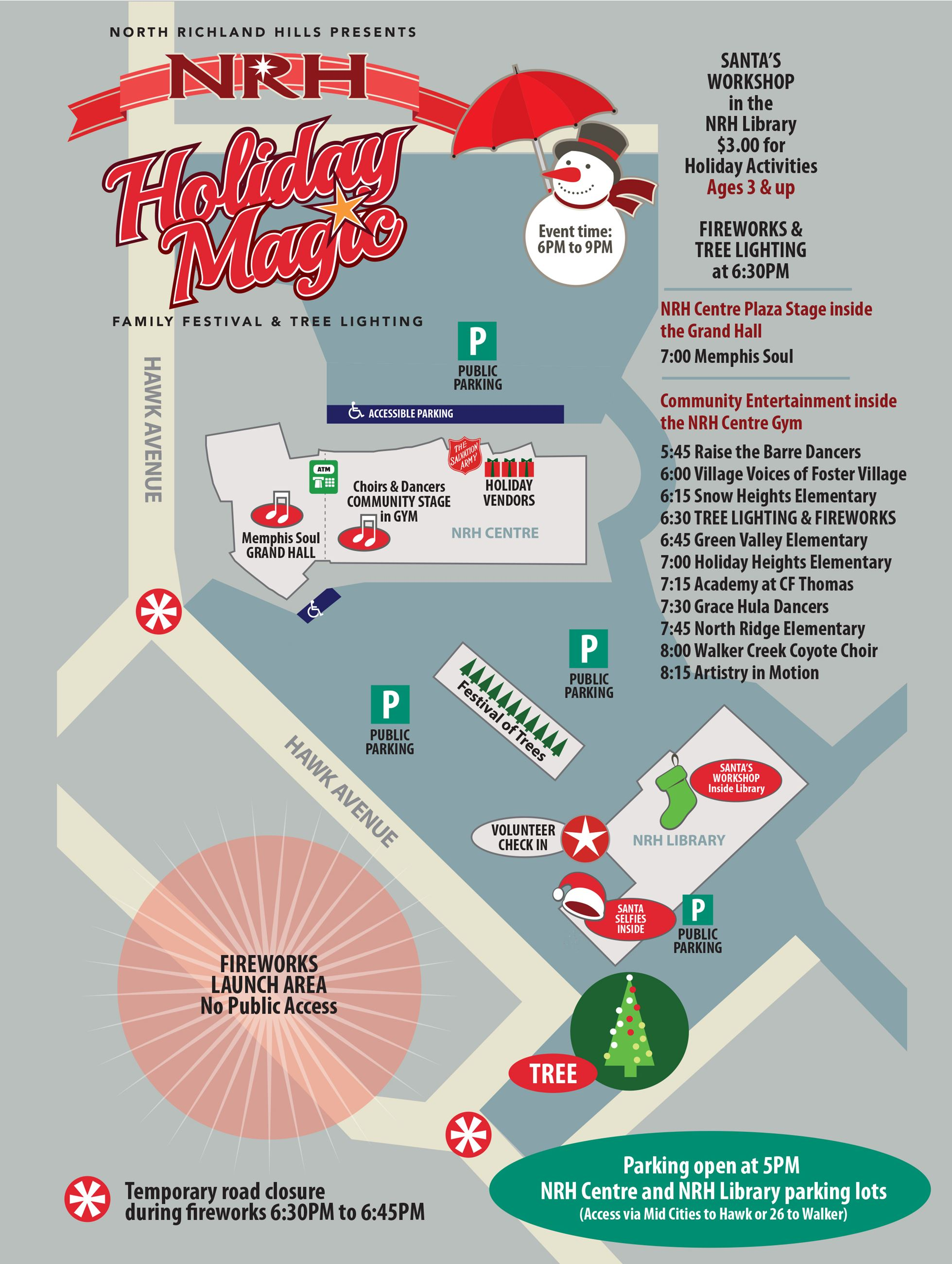 2018 Holiday Magic Event Site Map