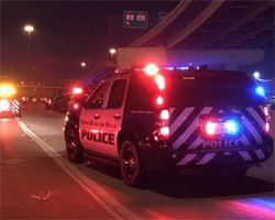 Police vehicle with lights