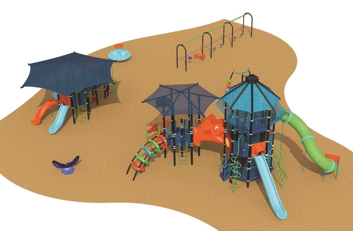 drawing of new park playground