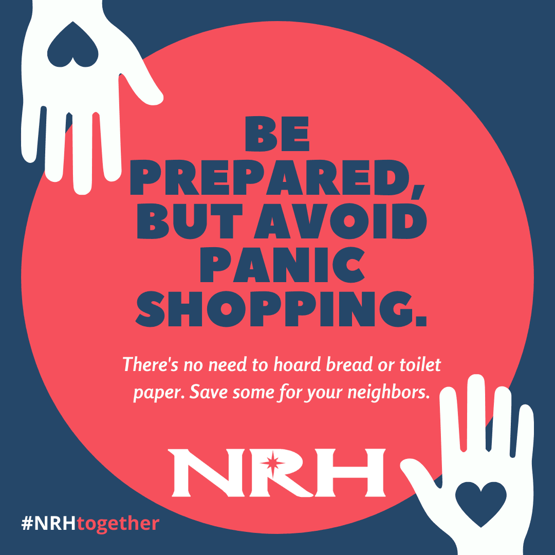 Be prepared, but avoid panic shopping